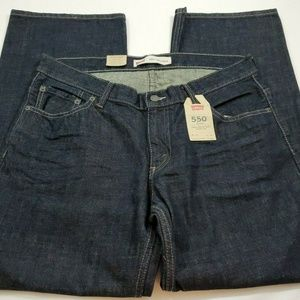 Levis Size 16 Husky Dark Wash Relaxed Fit Loose